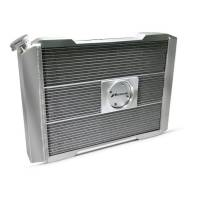 """Proform Performance Products - Proform Slim-Fit Universal Series Aluminum Radiator - 25-13/32"""" W x 18-1/2"""" H x 4"""" D - Single Pass - Left Side Inlet - Right Side Outlet - Natural - Manual Transmission"""