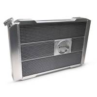 """Proform Performance Products - Proform Slim-Fit Universal Series Aluminum Radiator - 27-13/32"""" W x 18-1/2"""" H x 4"""" D - Single Pass - Left Side Inlet - Right Side Outlet - Natural - Manual Transmission"""
