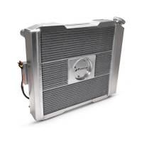 """Proform Performance Products - Proform Slim-Fit Universal Series Aluminum Radiator - 21-13/32"""" W x 18-1/2"""" H x 4"""" D - Single Pass - Right Side Inlet - Left Side Outlet - Natural - Manual Transmission"""
