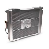 """Proform Performance Products - Proform Slim-Fit Universal Series Aluminum Radiator - 23-13/32"""" W x 18-1/2"""" H x 4"""" D - Single Pass - Right Side Inlet - Left Side Outlet - Natural - Manual Transmission"""