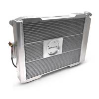"""Proform Performance Products - Proform Slim-Fit Universal Series Aluminum Radiator - 25-13/32"""" W x 18-1/2"""" H x 4"""" D - Single Pass - Right Side Inlet - Left Side Outlet - Natural - Manual Transmission"""