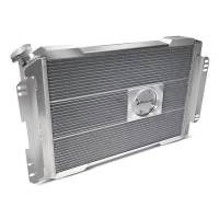 """Proform Performance Products - Proform Slim-Fit Direct Fit Series Aluminum Radiator - 28-7/64"""" W x 18-1/2"""" H x 4"""" D - Single Pass - Left Side Inlet - Right Side Outlet - Natural - GM LS-Series - Automatic Transmission"""