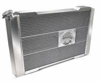 """Proform Performance Products - Proform Slim-Fit Direct Fit Series Aluminum Radiator - 31-51/64"""" W x 18-1/2"""" H x 4"""" D - Single Pass - Left Side Inlet - Right Side Outlet - Natural - Automatic Transmission - GM F-Body 1970-81"""