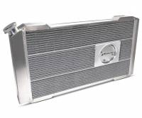 """Proform Performance Products - Proform Slim-Fit Direct Fit Series Aluminum Radiator - 31-13/64"""" W x 16-51/64"""" H x 4"""" D - Single Pass - Left Side Inlet - Right Side Outlet - Natural - Manual Transmission - GM A-Body 1968-77"""