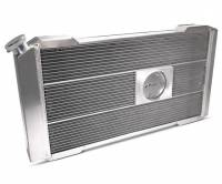 """Proform Performance Products - Proform Slim-Fit Direct Fit Series Aluminum Radiator - 31-13/64"""" W x 16-51/64"""" H x 4"""" D - Single Pass - Left Side Inlet - Right Side Outlet - Natural - Automatic Transmission - GM G-Body 1978-85"""