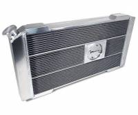 """Proform Performance Products - Proform Slim-Fit Direct Fit Series Aluminum Radiator - 32-7/64"""" W x 16-51/64"""" H x 4"""" D - Single Pass - Left Side Inlet - Right Side Outlet - Natural - Small Block Chevy - Automatic Transmission"""