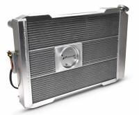 """Proform Performance Products - Proform Slim-Fit Direct Fit Series Aluminum Radiator - 29-7/64"""" W x 18-7/64"""" H x 4"""" D - Single Pass - Right Side Inlet - Left Side Outlet - Natural - Manual Transmission - Ford Mustang 1979-93"""