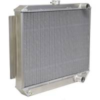 "Cooling & Heating - NEW PRODUCTS - Radiators - NEW - Be Cool - Be Cool Bone Yard Aluminum Radiator - 22-3/4"" W x 24"" H x 3"" D - Right Side Inlet - Right Side Outlet - Natural - GM LS-Series"