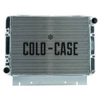 """Cooling & Heating - Cold-Case Radiators - Cold-Case Aluminum Radiator - 26.5"""" W x 20.8"""" H x 3"""" D - Passenger Side Inlet - Driver Side Outlet - Polished - Automatic - Ford Galaxie 1960-63"""