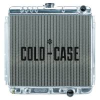 "Cold-Case Radiators - Cold-Case Aluminum Radiator - 22.4"" W x 20.5"" H x 3"" D - Passenger Side Inlet - Passenger Side Outlet - Polished - Automatic - Small Block Ford - Ford Mustang 1967-70"