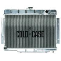 "Cold-Case Radiators - Cold-Case Aluminum Radiator - 26.85"" W x 20.5"" H x 3"" D - Passenger Side Inlet - Driver Side Outlet - Polished - Jeep Wrangler CJ 1970-85"