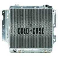 """Cold-Case Radiators - Cold-Case Aluminum Radiator - 25.8"""" W x 23"""" H x 3"""" D - Passenger Side Inlet - Driver Side Outlet - Polished - Jeep Wrangler TJ/YJ 1987-2006"""