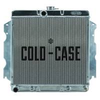 "Cold-Case Radiators - Cold-Case Aluminum Radiator - 26.3"" W x 23.5"" H x 3"" D - Center Inlet - Driver Side Outlet - Polished - Automatic - Mopar A-Body/B-Body/C-Body/E-Body - 1962-74"