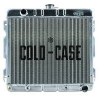 "Cold-Case Radiators - Cold-Case Aluminum Radiator - 25"" W x 22.5"" H x 3"" D - Driver Side Inlet - Passenger Side Outlet - Automatic - Mopar A-Body/B-Body 1970-72"