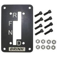 Shifter Components - Shifter Gate Plates - Brinn Transmission - Brinn Shifter Gate Plate - Steel - Black Powder Coat - Brinn Predator Circle Track Transmission
