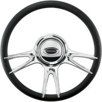 "Steering Components - NEW - Steering Wheels and Components - NEW - Billet Specialties - Billet Specialties Steering Wheel - 14"" Diameter - 6 Spoke - Aluminum - Polished"