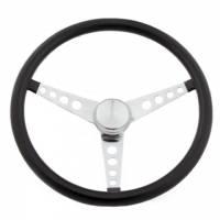 "Steering Components - Grant Products - Grant Chrome 3-Spoke Classic 15"" Black Vinyl Wheel"