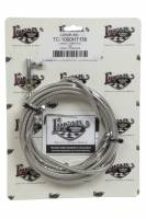 Air & Fuel System - Lokar - Lokar Hi-Tech Throttle Cable - 13 Ft. Long - Hardware Included - Braided Stainless - Natural - Universal