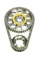 "Rollmaster / Romac - Rollmaster / Romac Red Series Double Roller Timing Chain Set - Keyway Adjustable - 0.005"" Shorter - Billet Steel - Small Block Chevy"