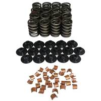 """Camshafts and Valvetrain - Valve Spring and Retainer Kits - Howards Cams - Howards Cams Valve Spring Kit - Single Spring/Damper - 355 lb./in. Rate - 1.150"""" Coil Bind - 1.485"""" OD - Steel Cups/Locks/Retainers"""