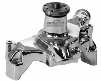 Tuff-Stuff Performance - Tuff-Stuff Platinum Series Water Pump - High Volume - Reverse Rotation - Long Design - Aluminum - Chrome - Small Block Chevy