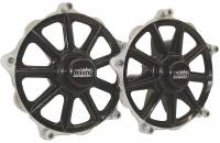 Front End Components - Front Hubs - King Racing Products - King Racing Products Front Hub - Left Side - Races Included - Aluminum - Black Powder Coat/Machined - Sprint Car