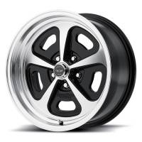 "American Racing Wheels - American Racing 500 Magnum Wheel - 15 x 7"" - 4.000"" Backspace - 5 x 4.50"" - Polished/Black"