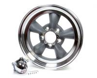 "American Racing Wheels - American Racing Torq Thrust D Wheel - 15 x 8.5"" - 3.77"" Backspace - 5 x 4.75"" Bolt Pattern - Aluminum - Gray Paint Center - Machined Lip"
