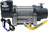 "Trailer & Towing Accessories - Superwinch - Superwinch Tiger Shark 17500 Winch - 17500 lb. Capacity - Roller Fairlead - 12 Ft. Remote - 1/2"" x 90 Ft. Steel Rope - 12V"