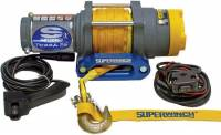 "Superwinch - Superwinch Terra Winch - 2500 lb. Capacity - Hawse Fairlead - 10 Ft. Remote - 3/16"" x 50 Ft. Synthetic Rope - 12V"