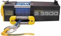 "Superwinch - Superwinch S5500 Winch - 5500 lb. Capacity - Roller Fairlead - 30 Ft. Remote - 1/4"" x 60 Ft. Nylon Rope - 12V"
