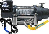 "Superwinch - Superwinch Tiger Shark 13500 Winch - 13500 lb. Capacity - Roller Fairlead - 12 Ft. Remote - 13/32"" x 95 Ft. Steel Rope - 12V"