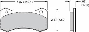 Disc Brake Pads - Brake Pad Sets - Circle Track - Wilwood Aero4 / 6 / W4A / W6A Brake Pads (6617)