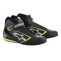 Alpinestars Tech-1 T Shoe - Black/White/Yellow Fluo - Size 10