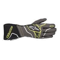 Alpinestars Tech 1-ZX v2 Glove - Anthracite/Yellow Fluo/Black - Size XL