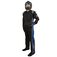 Velocity Race Gear - Velocity 1 Sport Suit - Black/Blue - X-Large