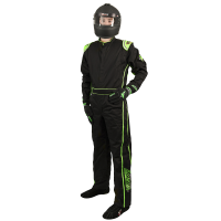 Velocity Race Gear - Velocity 1 Sport Suit - Black/Fluo Green - Large
