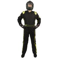 Velocity Race Gear - Velocity 1 Sport Suit - Black/Fluo Yellow - Large - Image 2