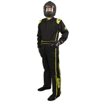 Velocity Race Gear - Velocity 1 Sport Suit - Black/Fluo Yellow - Medium/Large