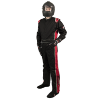 SUMMER SIZZLER SALE! - Velocity Race Gear - Velocity 1 Sport Suit - Black/Red - X-Large