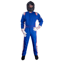 Velocity Race Gear Race Suits - Velocity 5 Patriot Suit - SALE $249.99 - SAVE $80 - Velocity Race Gear - Velocity 5 Patriot Suit - Blue/White/Red - Small
