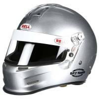 Kids Race Gear - Kids Helmets - Bell Helmets - Bell GP.2 Youth Helmet - Metallic Silver - 4XS (51-52) SFI24.1