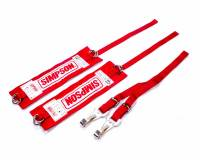 "Safety Equipment - Arm Restraints - Simpson Performance Products - Simpson ""Y"" Strap Arm Restraints - Red"