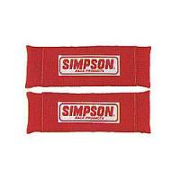 Seat Belt and Harness Parts & Accessories - Harness Pads - Simpson Performance Products - Simpson Nomex Harness Pad - Red