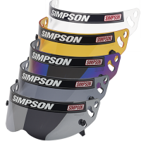 Helmet Shields and Parts - Simpson Shields & Accessories - Simpson Performance Products - Simpson Diamondback / Speedway RX / X-Bandit Helmet Shield - Snell SA2010/15 - Smoke