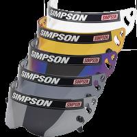 Helmet Shields and Parts - Simpson Shields & Accessories - Simpson Performance Products - Simpson Diamondback / Speedway RX / X-Bandit Helmet Shield - Snell SA2010/15 - Iridium