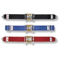 "Lap Belts - Latch & Link Seat Belts - Simpson Performance Products - Simpson 5 Point Latch F/X Lap Belts - Pull Down Adjust - 62"" Bolt-In - Red"