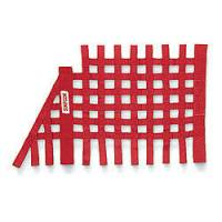 "Ribbon Window Nets - Angled Ribbon Window Nets - Simpson Performance Products - Simpson NASCAR Style Window Net - 16"" x 27"" Tapered - Red"