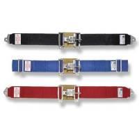 """Lap Belts - Latch & Link Seat Belts - Simpson Performance Products - Simpson 5 Point Latch F/X Lap Belts - Pull Down Adjust - 62"""" Floor Mount - Platinum"""