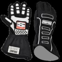 SUMMER SIZZLER SALE! - Racing Glove Sale - Simpson Performance Products - Simpson Competitor Glove - External Seam - Black - Medium
